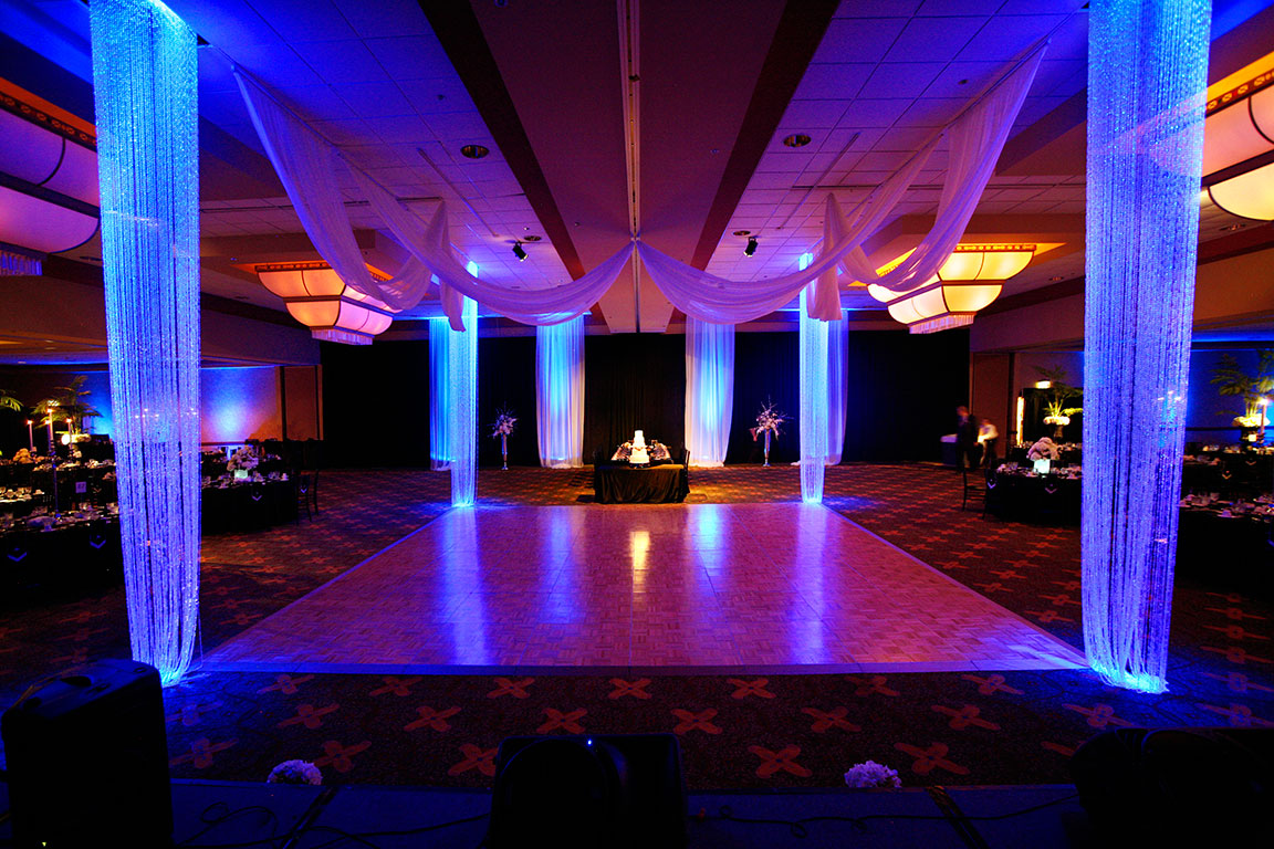 OK so youu0027re planning wedding event lighting and youu0027re looking for unique reception lighting techniques! This is going to make all the difference for your ... & Reception Lighting Techniques For Weddings | Creative Outdoor Lighting